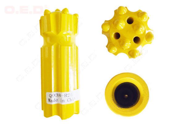 R38 Round Thread Button Bit , 38mm Drill Bit For Mining Machine Parts